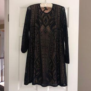 Bcbg Maxazria Black Longsleeve Dress